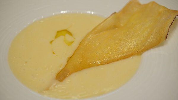 リストランテ ル・ミディひらまつの安納芋のポタージュスープ