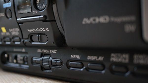 業務用ビデオカメラの使い方
